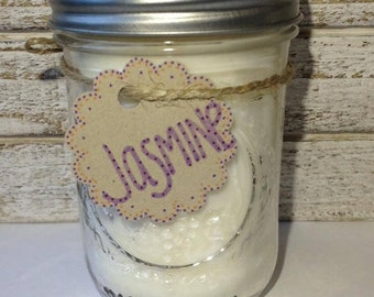 Jasmine Soy Candle. Housewarming Gift. Mothers Day Gift. Spring Home Decor. Jasmine Scented Candle.