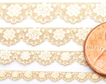 10 inches of Antique Laser Lace ~ Flowers