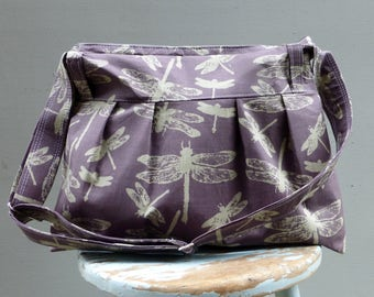 Dragonfly Diaper Bag Custom Colors Available 6 Pockets Zip Top with Matching Pouch