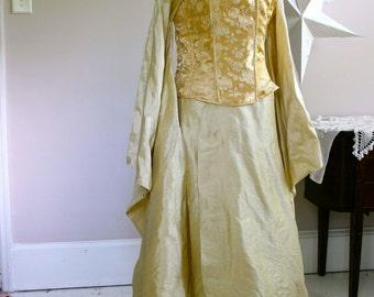 Wedding Dress Alternative  kimono and corset Firefly Steampunk Asian