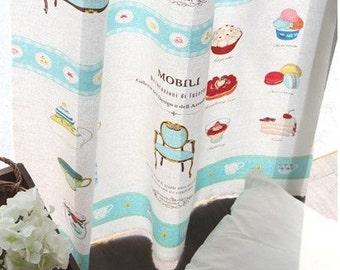 Cotton Linen Fabric Cloth -DIY Cloth Art Manual Cloth-Home Sweet Home  55x35Inches