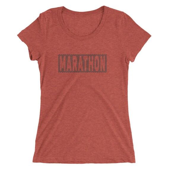 Women's Marathon TriBlend T-Shirt - Marathon Runner - 26.2 Mile Runner - Women's Short Sleeve Running Shirt
