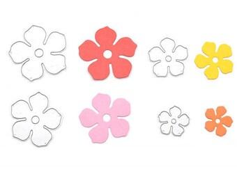 4pcs Metal Flowers DIY Cutting Dies Die Cut Stencil Decorative Scrapbooking Craft