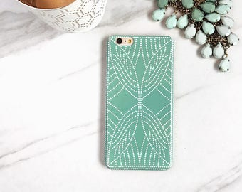 iPhone 8 Plus Case Seafoam Green iPhone X Case Boho Dot Pattern iPhone 7, Plus Case Spots iPhone SE, 6S Plus Case Boho Style, Samsung Galaxy