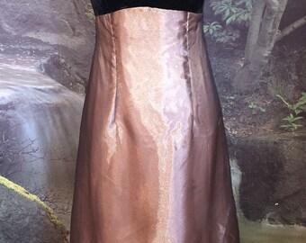 Vintage Black & Copper Shimmer Dress by Bill Levkoff Size 10