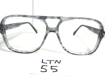 Vtg Nos LE STAR Aviator/Driving Sun Eyeglass Frame 1980s Grey 13653 (LTN-55)