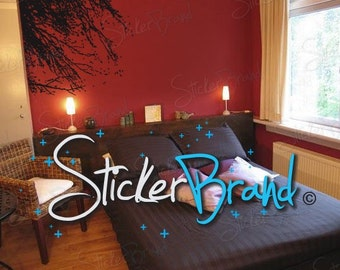 Vinyl Wall Decal Sticker Windy Tree Branches 683