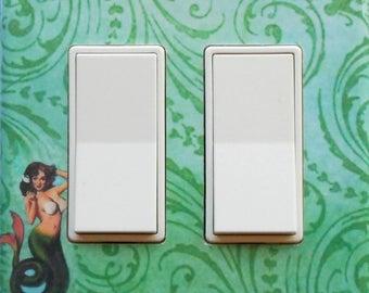 10 Choices of Mermaid Rockers & MATCHING Screws- Mermaid rocker switch plates mermaid wall decoration mermaid switc plate mermaid print GFCI