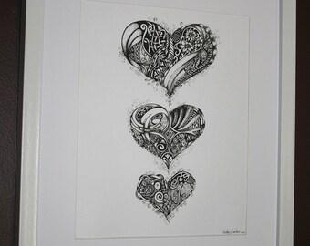 Love, Love, Love - Print of Original Illustration