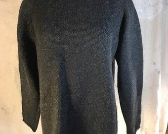 jcrew black wool turtle neck sweater warm cardigan pullover jumper