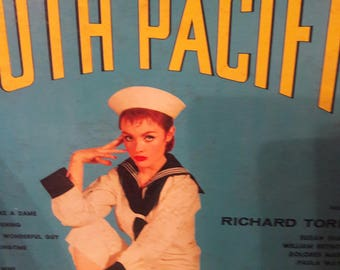 South Pacific Rodgers and Hammerstein's 40s L.P. album record. Pin up girl.