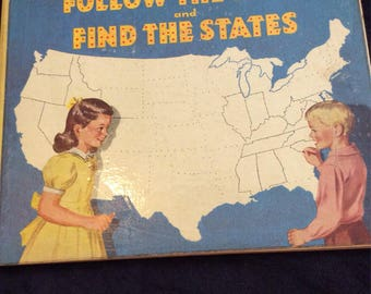 1949 Follow the Dots and Find the States Activity Book