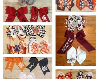 Custom school spirit bows