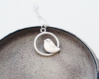 Silver Bird Necklace | Silver Necklace | Woodland Jewelry