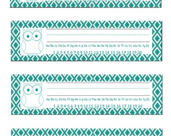Owl Name Plates! Great for teachers! Printable Name Plate for Desks!