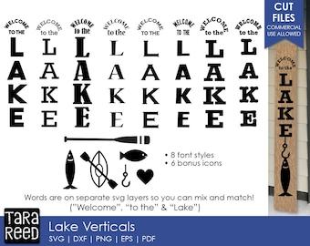 Lake Vertical Signs svg / Lake Sign svg / Lake svg / Lake svg bundle / Vertical Signs svg / svg files / svg for Cricut / svg for Silhouette