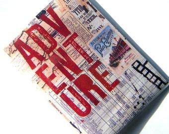 Passport Cover Case Holder -- Travel Adventure Collage