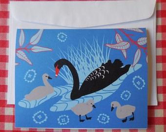 Black Swans blank card