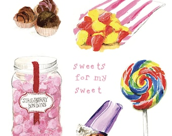 Sweets for my Sweet greeting card / note card