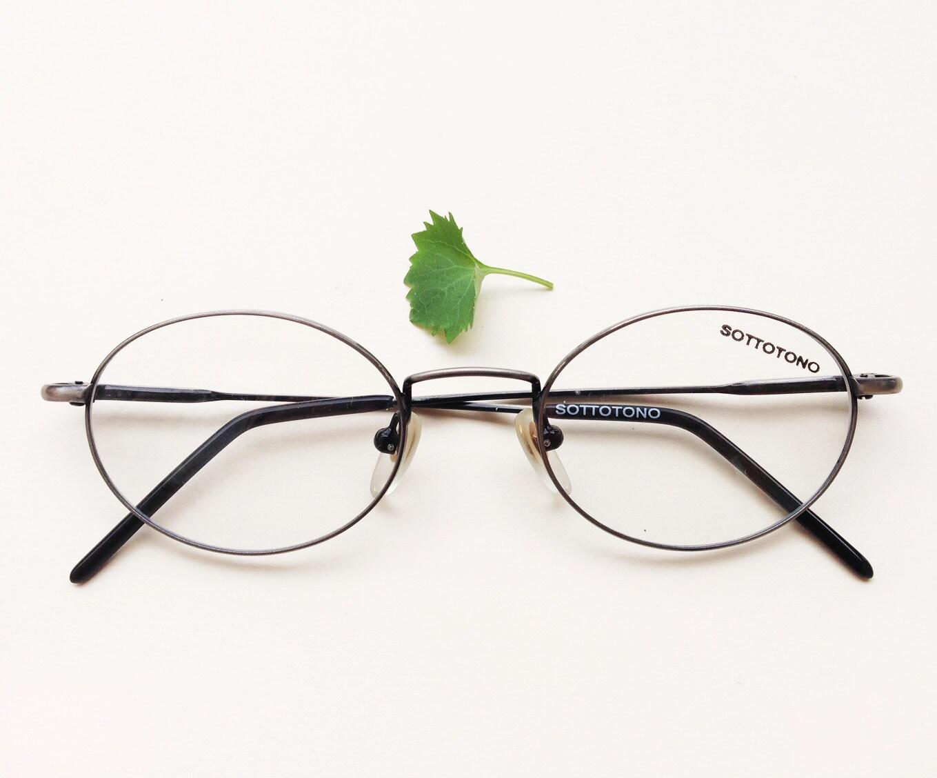 Italienische ovalen Rahmen / brüniert silberne ovale Brillen /