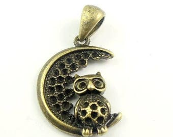 15 charms in 3 D OWL on Moon encrusted stars 36 * 20 * 6 mm