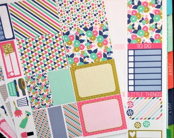 Navy and Gold Weekly Planner Kit!  Available for Erin Condren Life Planner or MAMBI/Happy Planner