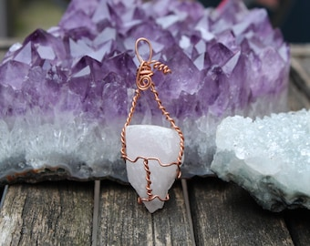 Quartz Pendant Wire Wrapped Necklace