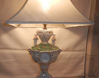 Lamp,Lamps,Large Capodimonte Lamp ONLY, , Shade NOT AVAILABLE