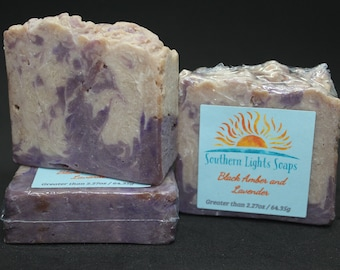 Black Amber & Lavender Hot Process Soap