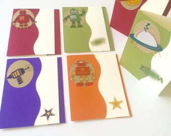 Pack of 6 Space Adventure Greeting Cards