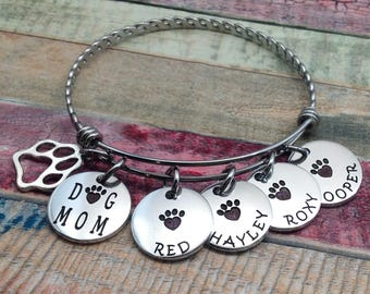 Pet Jewelry, Dog Jewelry, Dog Paw Bracelet, Dog and dog memorial jewelry, Engraved Bracelet, Custom bracelet, Dog Bracelet, Custom Jewelry