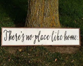 There's No Place Like Home Sign, Hand Painted Wall Art, No Place Like Home Sign, Theres No Place Like Home, Home Sign,
