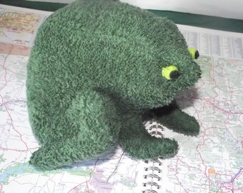 Bullfrog Price Change Stuffed Animal Pattern for you to Sew PDF Instant download