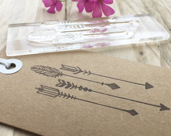 Arrows - Arrow Rubber Stamp - Volley of Arrows - Arrow Stamp - Gift Wrap - Photopolymer Stamp - Clear Stamping - Arrows Stamp - Little Stamp