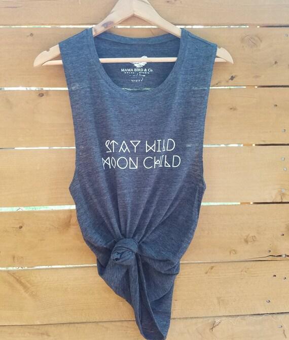 Stay Wild MOON CHILD, Moonchildren, Moon Tee, Moon Child Tee, Moon Child Tshirt, Moon Shirt, Cancerian Tee, Moon Tshirts, Astrology T