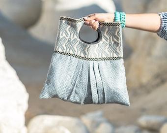 Woven handbag   fully lined