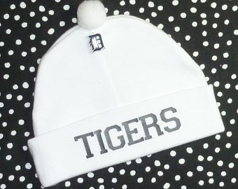 Newborn Baby Hat for the Detroit Tigers Fan Infant Cap Charm Beanie
