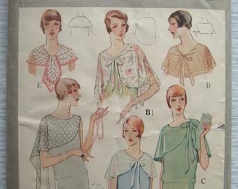 vintage 5286 McCall BERTHA COLLARS sewing pattern (B)