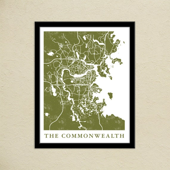 Fallout 4 the commonwealth map print gamer christmas present fallout 4 the commonwealth map print gamer christmas present boston commonwealth map poster video game world map art video game art gumiabroncs Choice Image