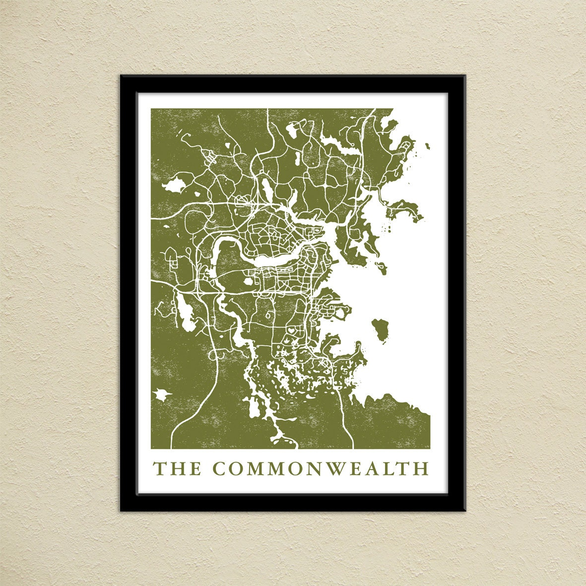 Fallout 4 the commonwealth map print gamer christmas present zoom sciox Gallery