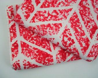Geometric Kitchen Towel, Red Kitchen Tea Towel, Red Hand Towel for Kitchen or Bath, Glasgow Cherry