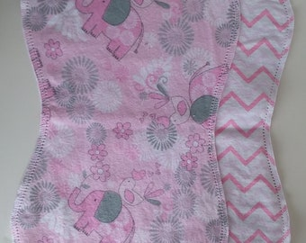 Hemstitched Baby Burp Cloths, Burp Rags, Handmade, DIY, Vintage Style, Newborn Baby Gift Set, Baby Shower Gift, New Mom Gift