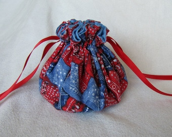Jewelry Bag - Medium Size - Drawstring Pouch - Traveling Jewelry Tote - RODEO ROUNDUP
