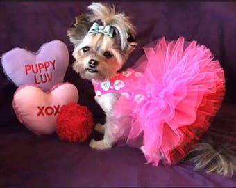 Be My Valentine Love Pink Tutu Dog Dress