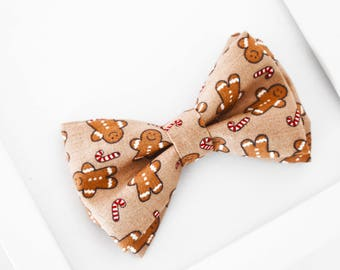 Gingerbread Bow Tie, Gingerbread Cookie Bow Tie, Christmas Bow Tie, Holiday Bow Tie, Christmas Candy Cane Bow Tie, Boys Bow Tie, Baby Bowtie