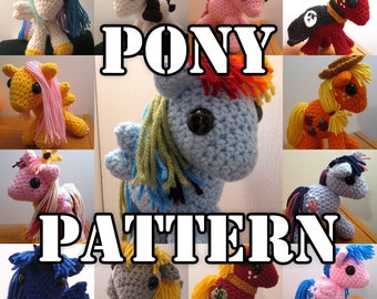 Crocheted Pony Amigurumi MLP Plush PATTERN