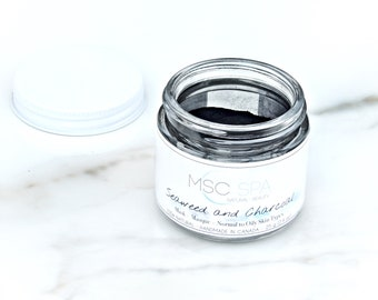Face Mask - Seaweed & Activated Charcoal - Natural - Cleansing - Moisturizing - Absorbing - Detoxifying - Anti Aging - Aloe Vera - Silk