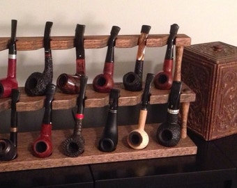 Solid Oak Pipe Display Stand