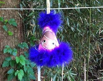Ready to ship appliquéd pink and purple Doc McStuffins party hat