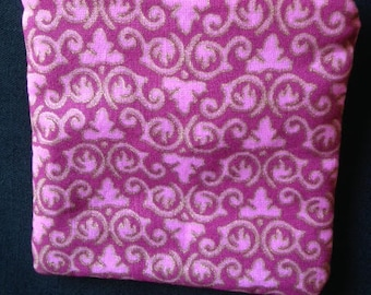 Pink Zippered Coin Pouch